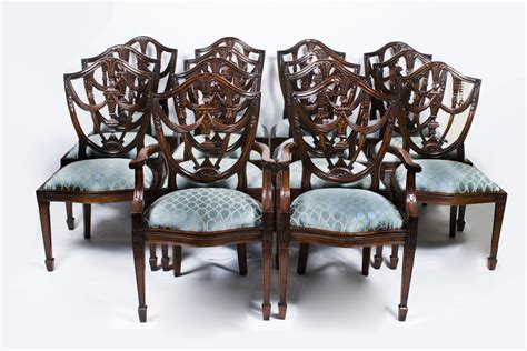 vintage dining chairs vintage set 14 federal shield back dining chairs ref no 3185
