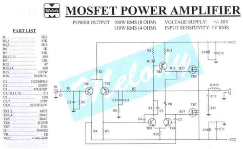 150w mosfet lifier circuit electronics projects circuits