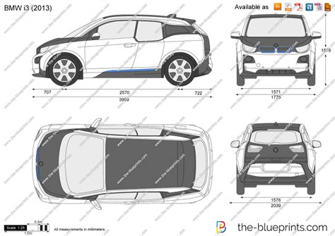 Bmw I3 Vector Drawing