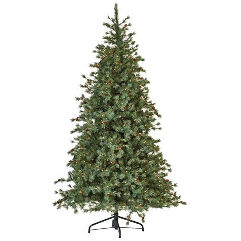 national artificial christmas trees national tree company weeping blue pine 7 5 ft artificial 3432