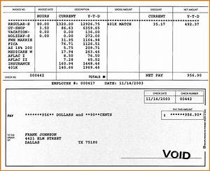 7 pay stub template pdf authorizationlettersorg With template for payroll check stub