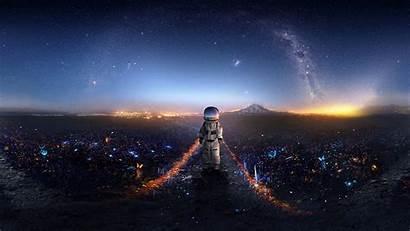 Astronaut Space Galaxy Stars Background