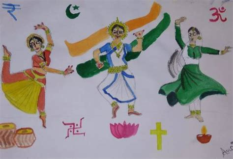 national integration painting  arpita bhat