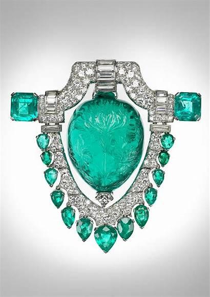 Marjorie Jewelry Merriweather Brooch Emerald Mughal Museum