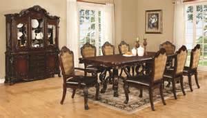 coaster benbrook 9 piece rectangular dining room set in