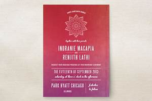 indian love wedding invitations by bonjour paper minted With indian wedding invitations minted