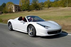 White Ferrari Spider