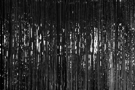metallic door curtain black  party stop