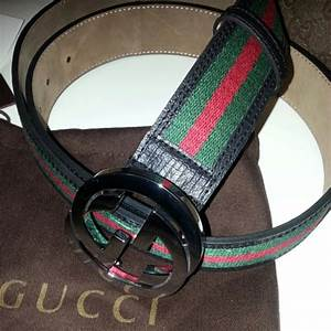 54% off Gucci Accessories - Authentic Black Gucci Belt w ...