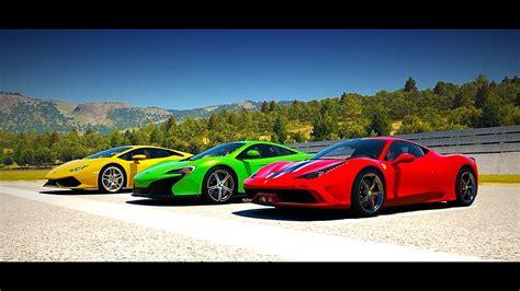 Ferrari 458 Speciale Vs Mclaren 650s Vs