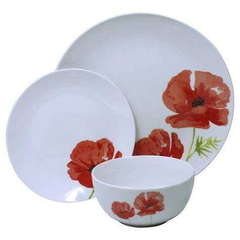 poppy plates set buy poppy porcelain 12 piece dinner set from our dinner sets range tesco