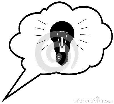 idee de genie cuisine idée de génie oule en nuage de bulle de la parole le ve