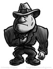 Gangster Cartoon Character Drawing