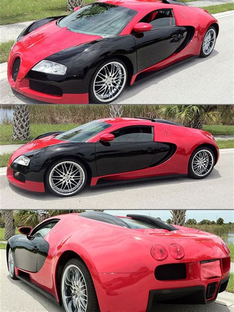 Yes, that's a bargain for a veyron, but it's a lot for a cougar. Bugatti Veyron Replica Made from a Mercury Cougar