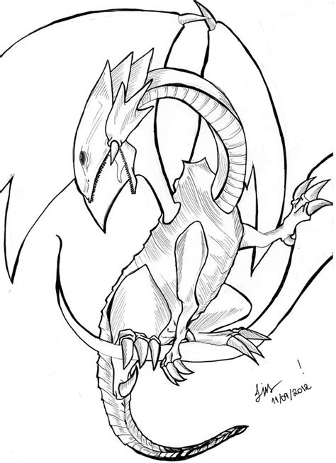 White Dragon coloring Download White Dragon coloring for