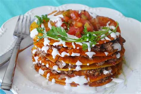 foreign cuisine weekend cooking stacked enchiladas mamiverse