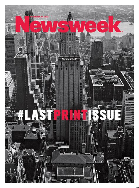 Newsweeks Last Print Issue Cover Released Photo Huffpost