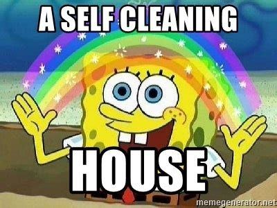 Clean House Meme - a self cleaning house imagination meme generator