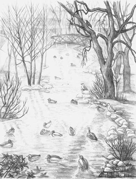 landscape sketches drawings drawing art gallery