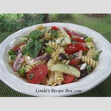 Lynda's Recipe Box Mediterranean Style Pasta Salad
