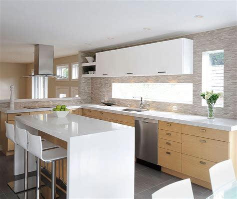 island cabinets for kitchen white oak kitchen cabinets with gloss white accents