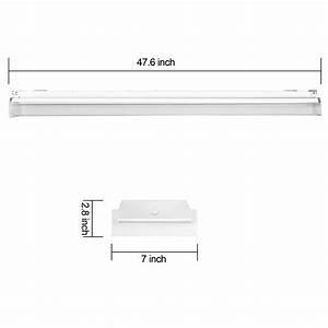Antlux 4ft Led Garage Shop Lights Led Wraparound Light Fixture - 40w 4800lm