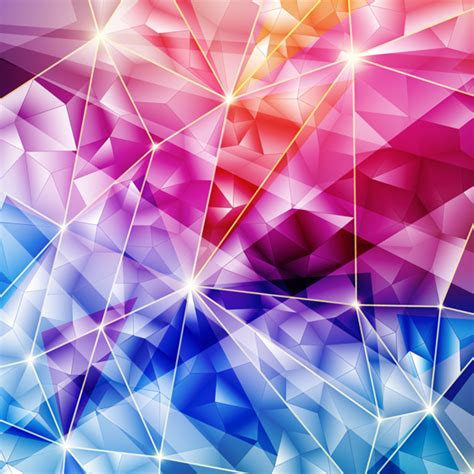 Shapes Background Glass Geometric Shapes Background Vector Vector