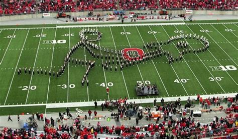 ohio state marching band classic rock halftime show