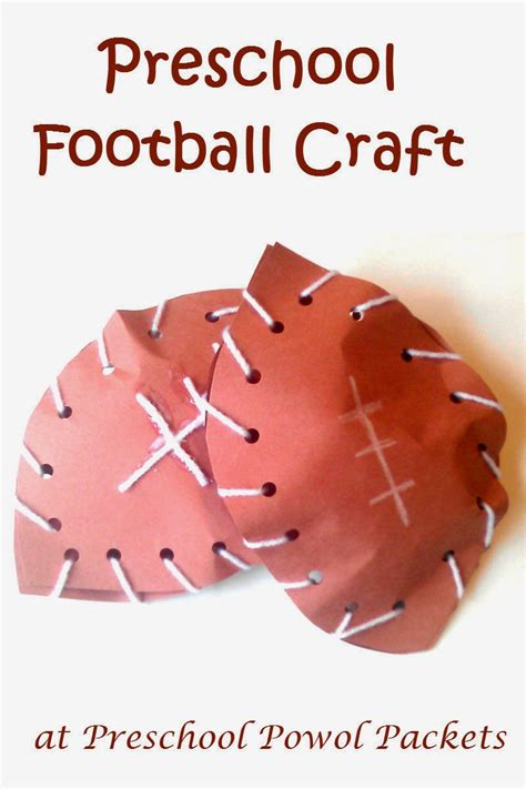 football preschool craft preschool powol packets 334 | preschool football craft 3