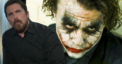 Watch Christian Bale Talks Batman Heath Ledger Joker