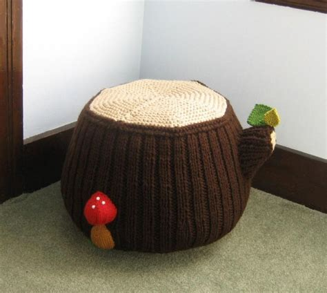 knitted pouf patterns on craftsy