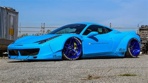 liberty walk widebody ferrari  italia rides magazine