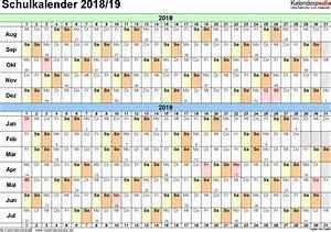 Kalender 18 19 : schulkalender 2018 2019 als pdf vorlagen zum ausdrucken ~ Jslefanu.com Haus und Dekorationen