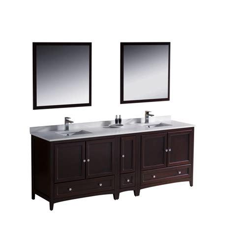 double sink bathroom vanity  mahogany