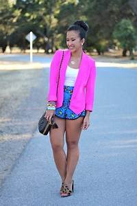Neon Pink Truth And Pride Blazers Blue Floral Urban