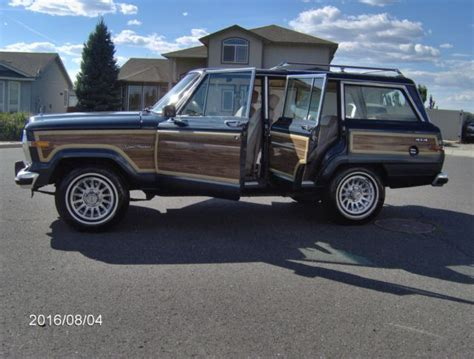 jeep wagoneer blue 1989 jeep grand wagoneer low miles no reserve baltic blue