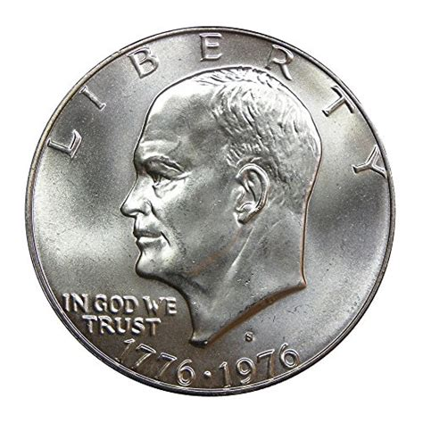 1976 silver dollar 1976 u s bicentennial 40 silver eisenhower dollar coin mint state at amazon s collectible