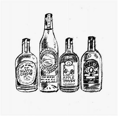 Drawing Bottle Alcohol Liquor Transparent Kindpng