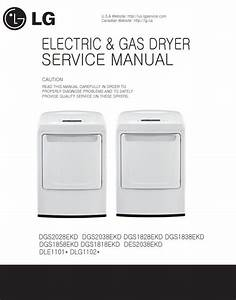 Lg Dle1101w Dlg1102w Dryer Service Manual And Repair Guide
