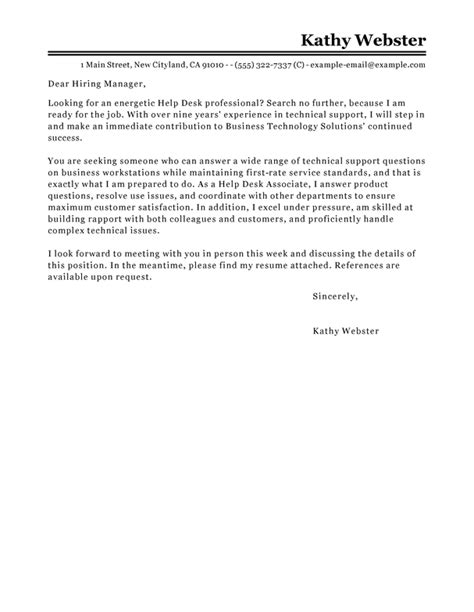 help making a cover letter best help desk cover letter examples livecareer