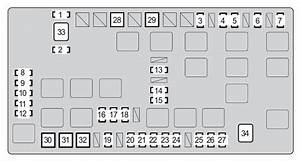 Toyota Fj Cruiser  2008 - 2009  - Fuse Box Diagram