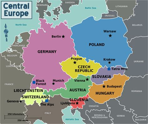 map  central europe  capitals   country