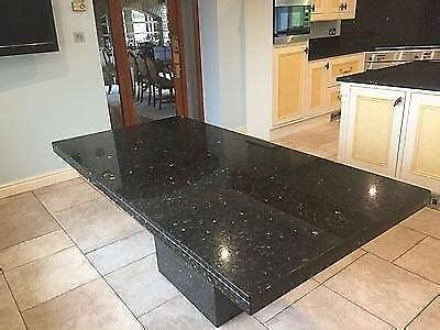 large  seater solid granite kitchen dining table