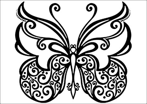 Beautiful Butterfly Coloring Pages For Preschool