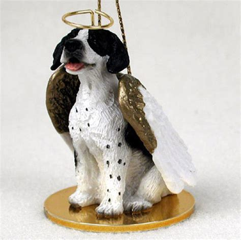annapolis maryland black dog christmas ornament pointer ornament figurine painted brown white
