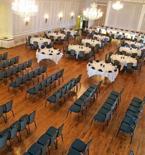ceremony and reception in the same room split between the