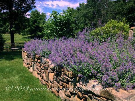 england fieldstone wall design traditional landscape  york  summerset gardens