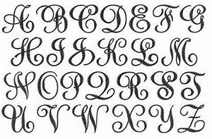sydney embroidery font design 163 apex embroidery With cursive monogram font