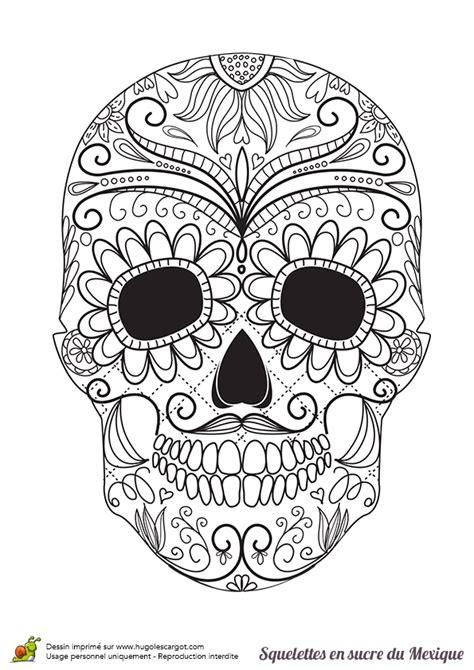 masque rituel à tête de fils des histoires coloriage squelette sucre moustache et fleurs sur