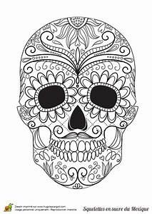 Tete De Mort Mexicaine Dessin : coloriage squelette sucre moustache et fleurs sur ~ Melissatoandfro.com Idées de Décoration